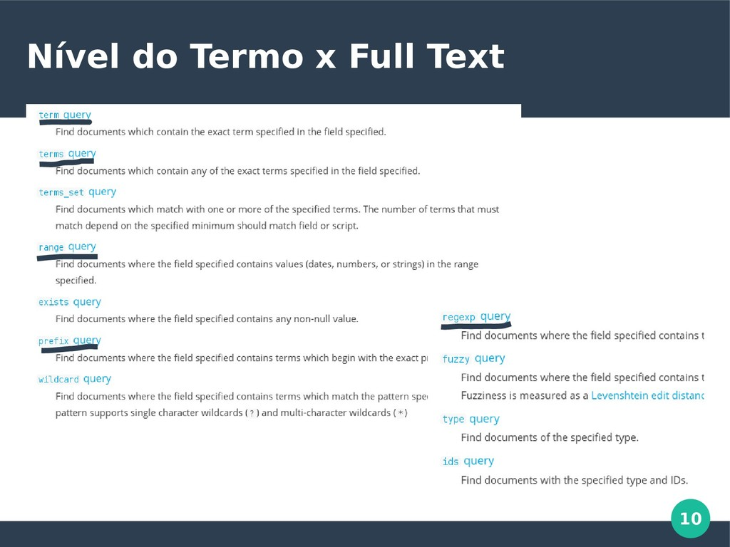10 Nível do Termo x Full Text