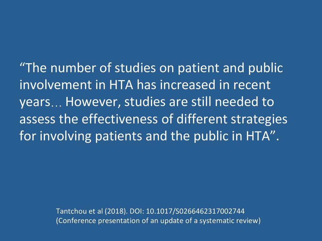 """The number of studies on patient and public in..."