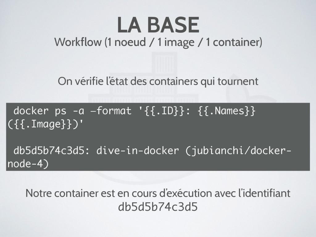 LA BASE Workflow (1 noeud / 1 image / 1 contain...