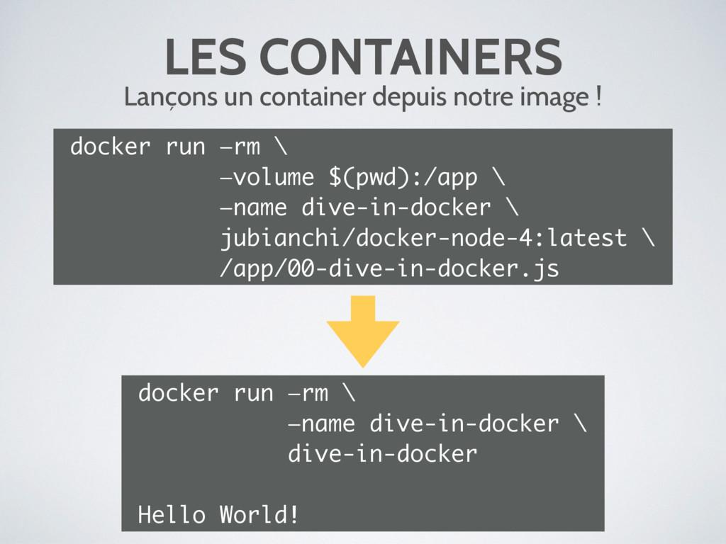 LES CONTAINERS Lançons un container depuis notr...