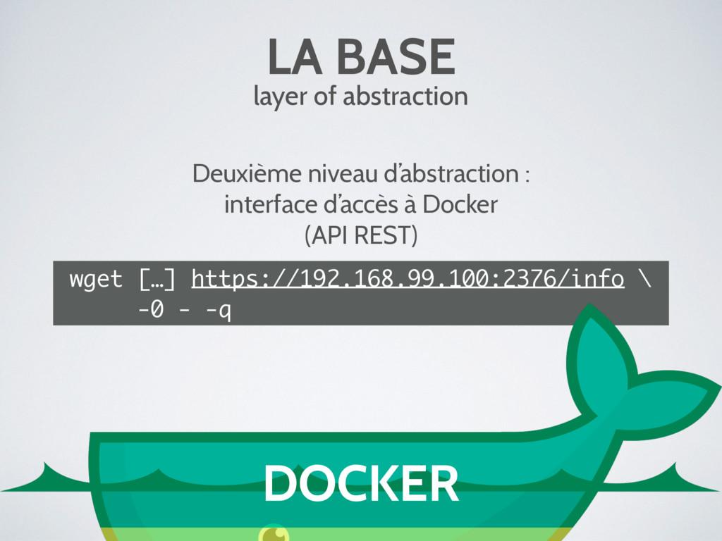 LA BASE layer of abstraction Deuxième niveau d'...