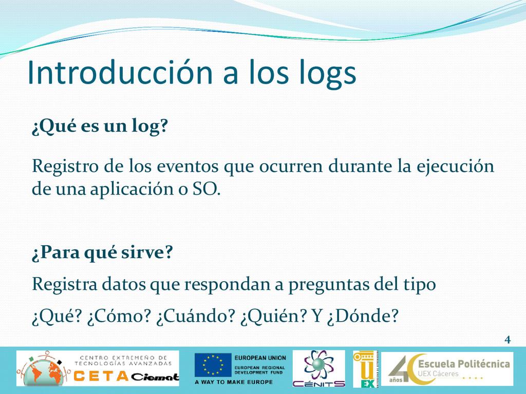 Introducción a los logs ¿Qué es un log? Registr...
