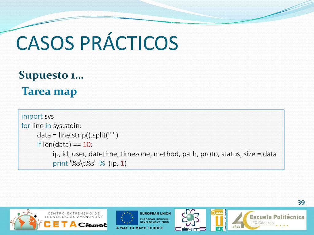 Supuesto 1… Tarea map CASOS PRÁCTICOS 39 import...