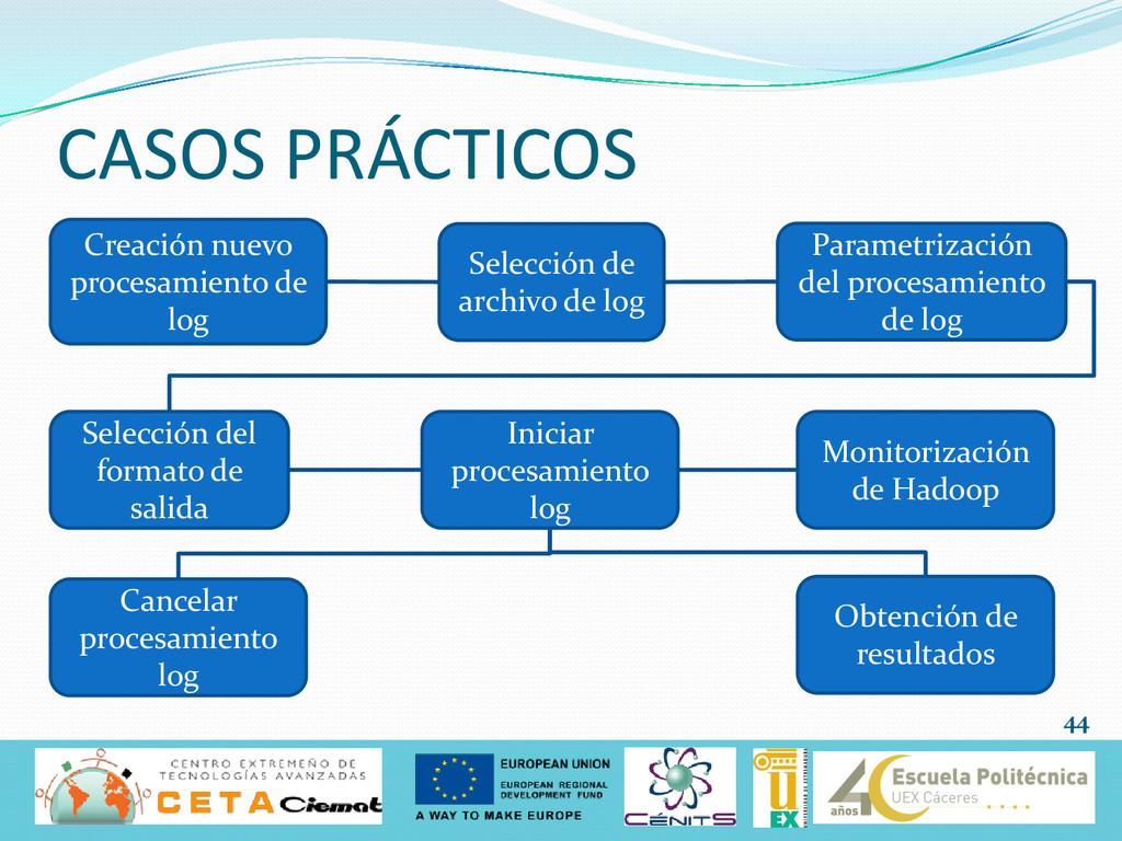 CASOS PRÁCTICOS 44 Creación nuevo procesamiento...