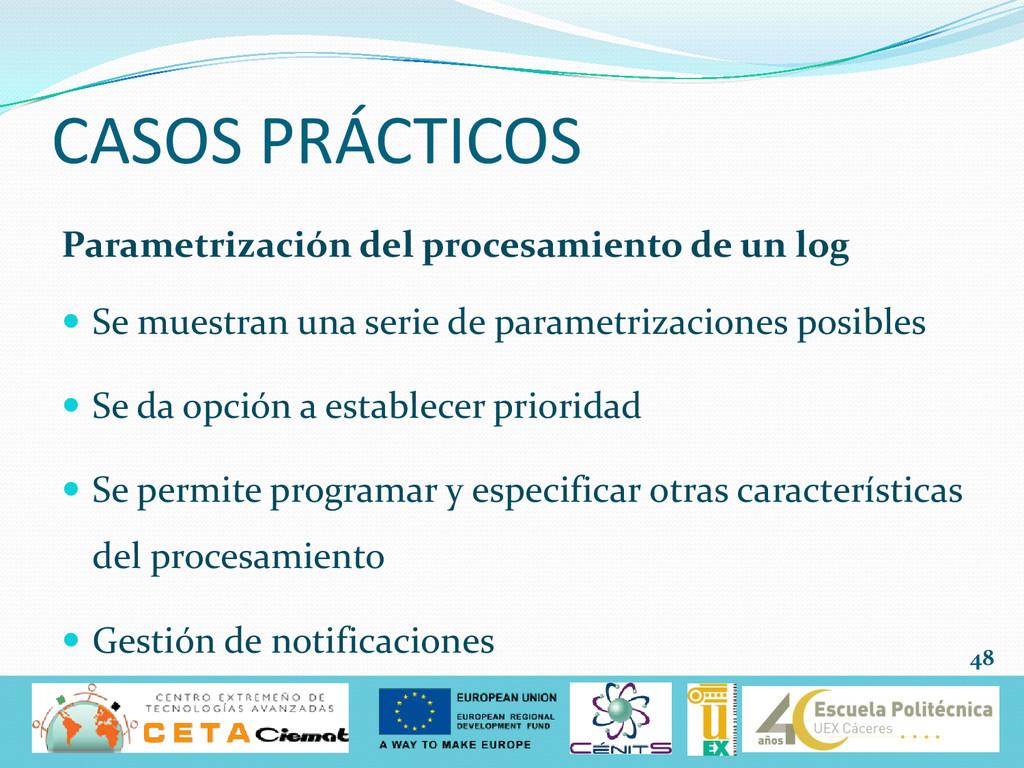CASOS PRÁCTICOS Parametrización del procesamien...