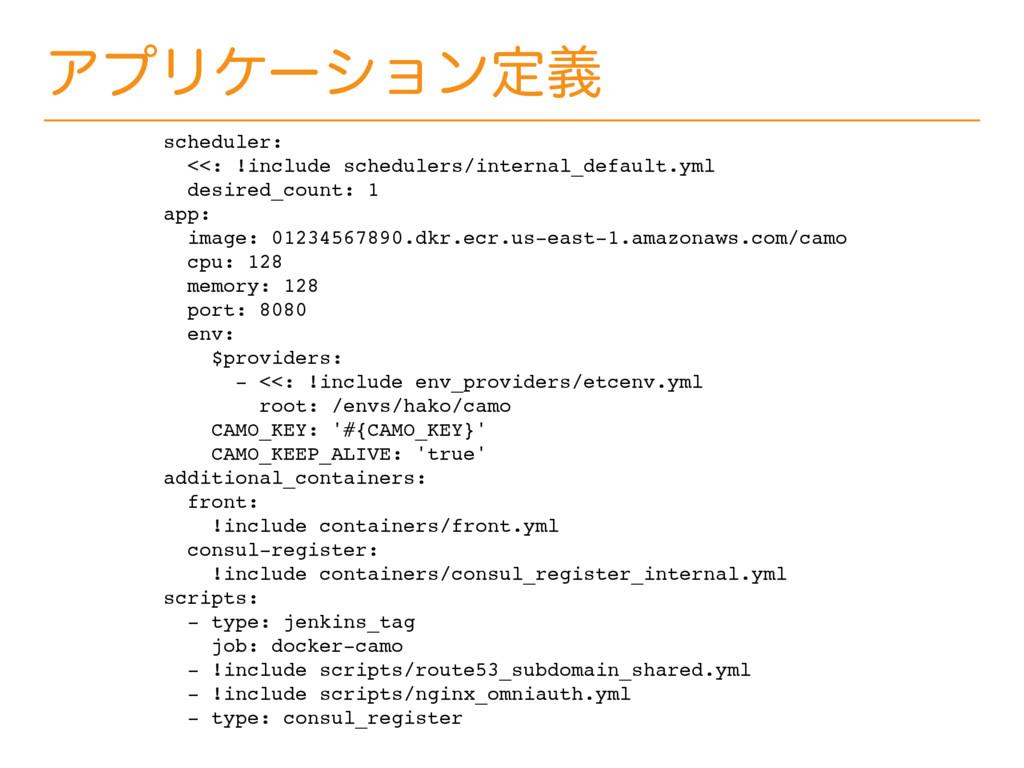 ΞϓϦέʔγϣϯఆٛ scheduler: <<: !include schedulers/i...