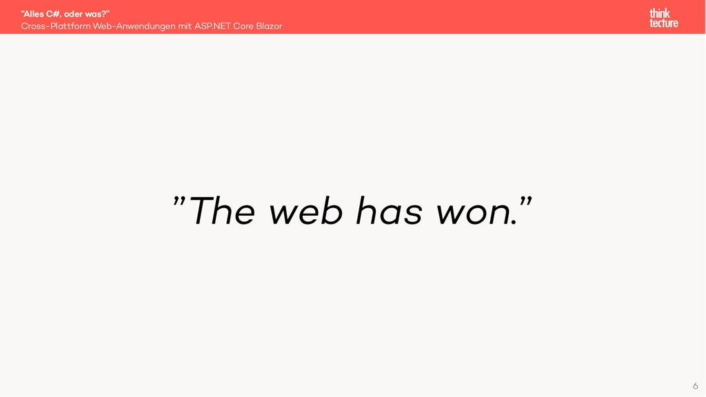 """The web has won."" Cross-Plattform Web-Anwendun..."