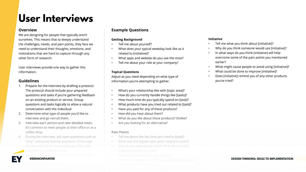 User Interviews Overview We are designing for p...
