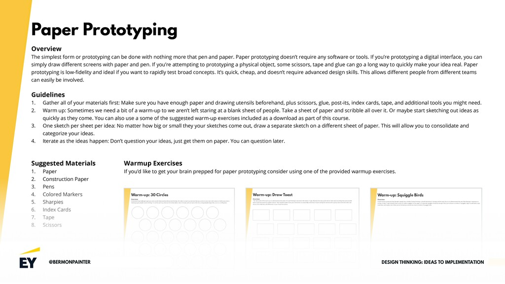 Paper Prototyping Overview The simplest form or...