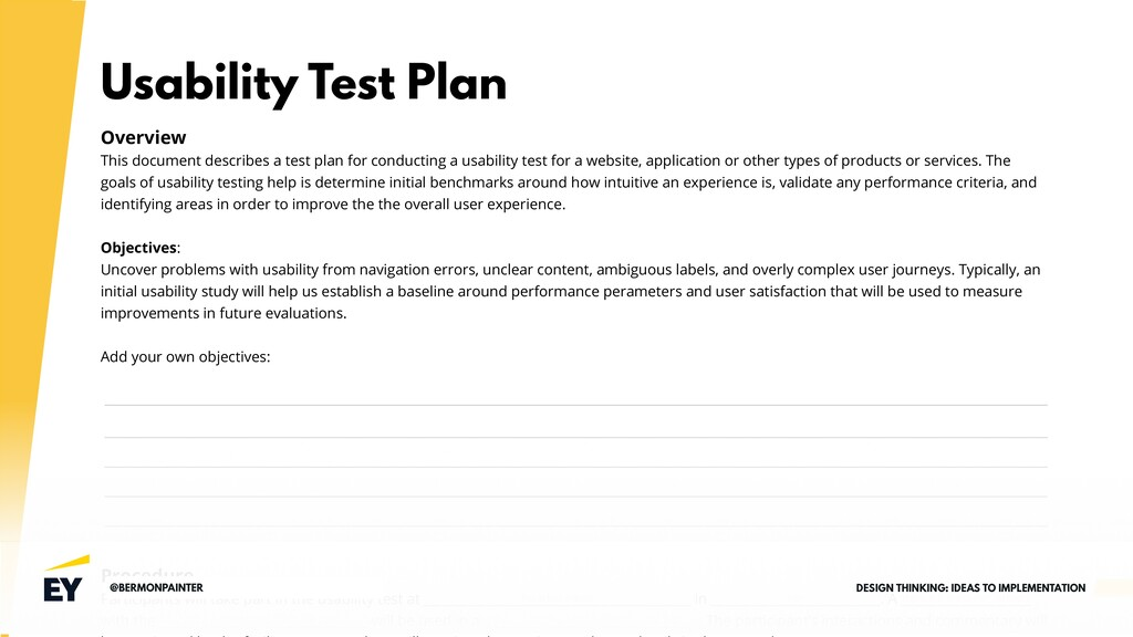 Usability Test Plan Overview This document desc...