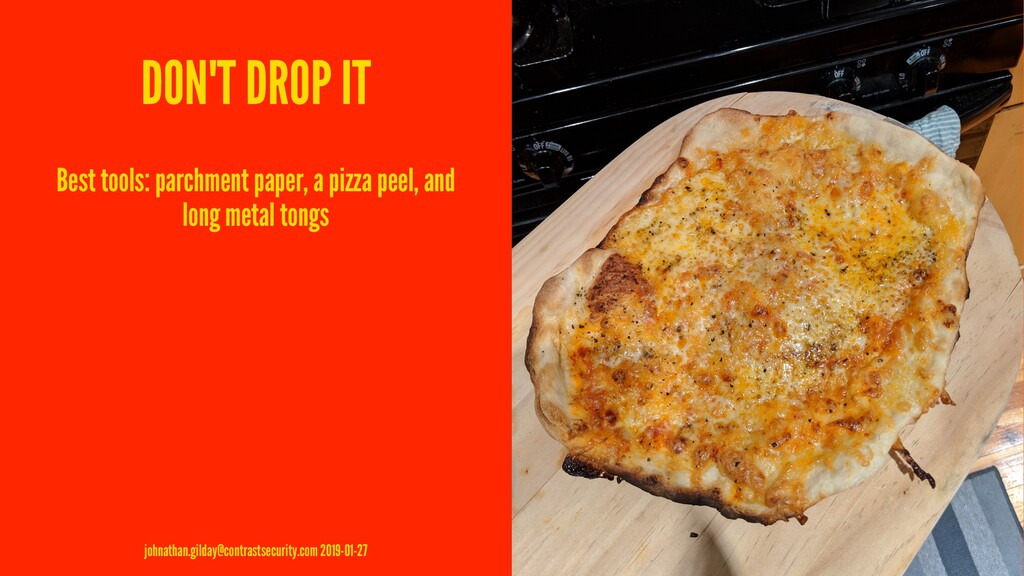DON'T DROP IT Best tools: parchment paper, a pi...