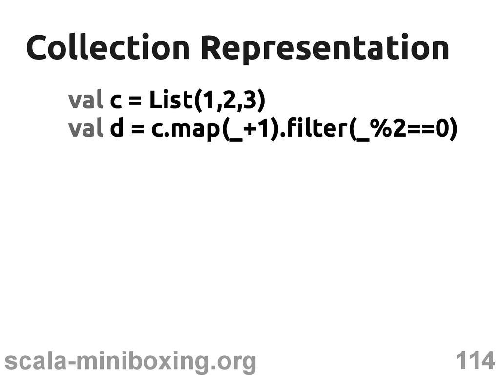 114 scala-miniboxing.org Collection Representat...