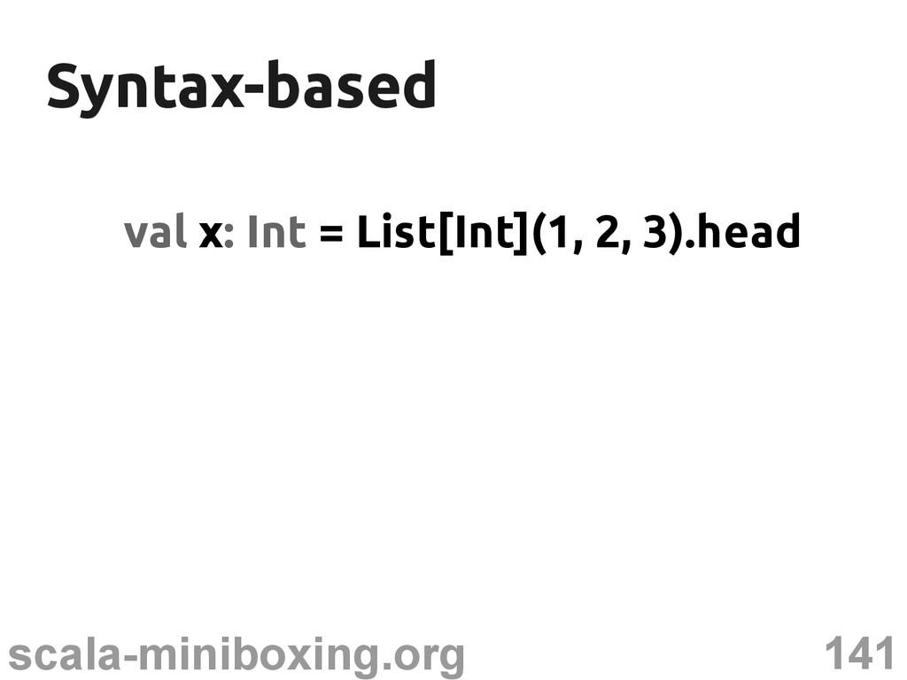141 scala-miniboxing.org Syntax-based Syntax-ba...