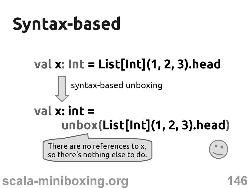 146 scala-miniboxing.org Syntax-based Syntax-ba...