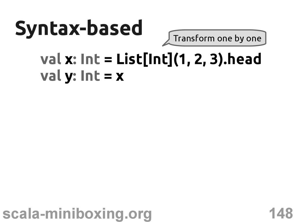 148 scala-miniboxing.org Syntax-based Syntax-ba...
