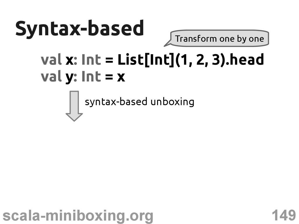149 scala-miniboxing.org Syntax-based Syntax-ba...
