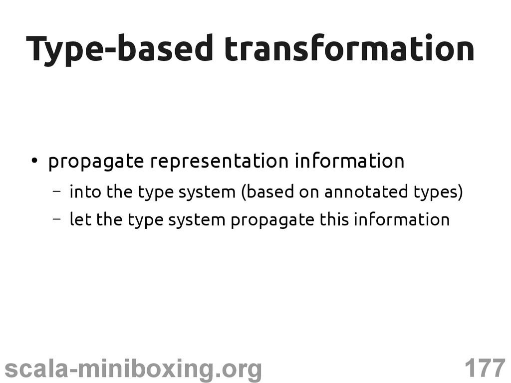 177 scala-miniboxing.org Type-based transformat...