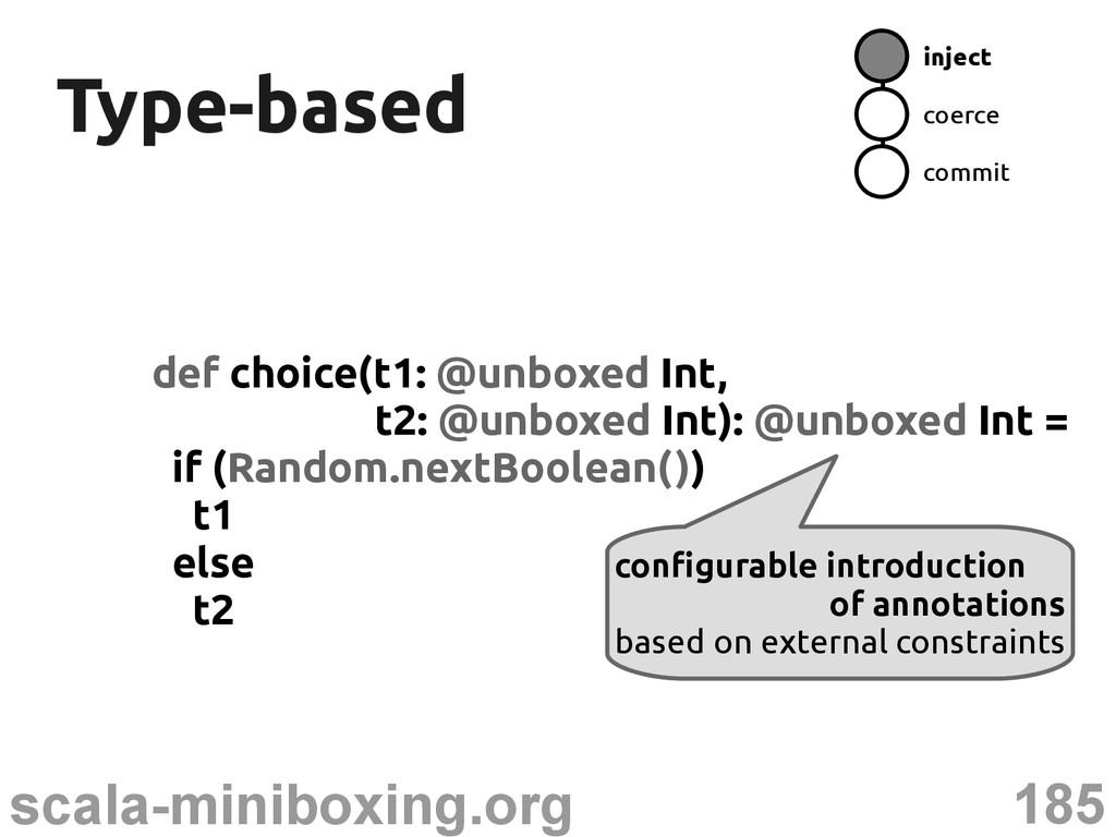 185 scala-miniboxing.org Type-based Type-based ...
