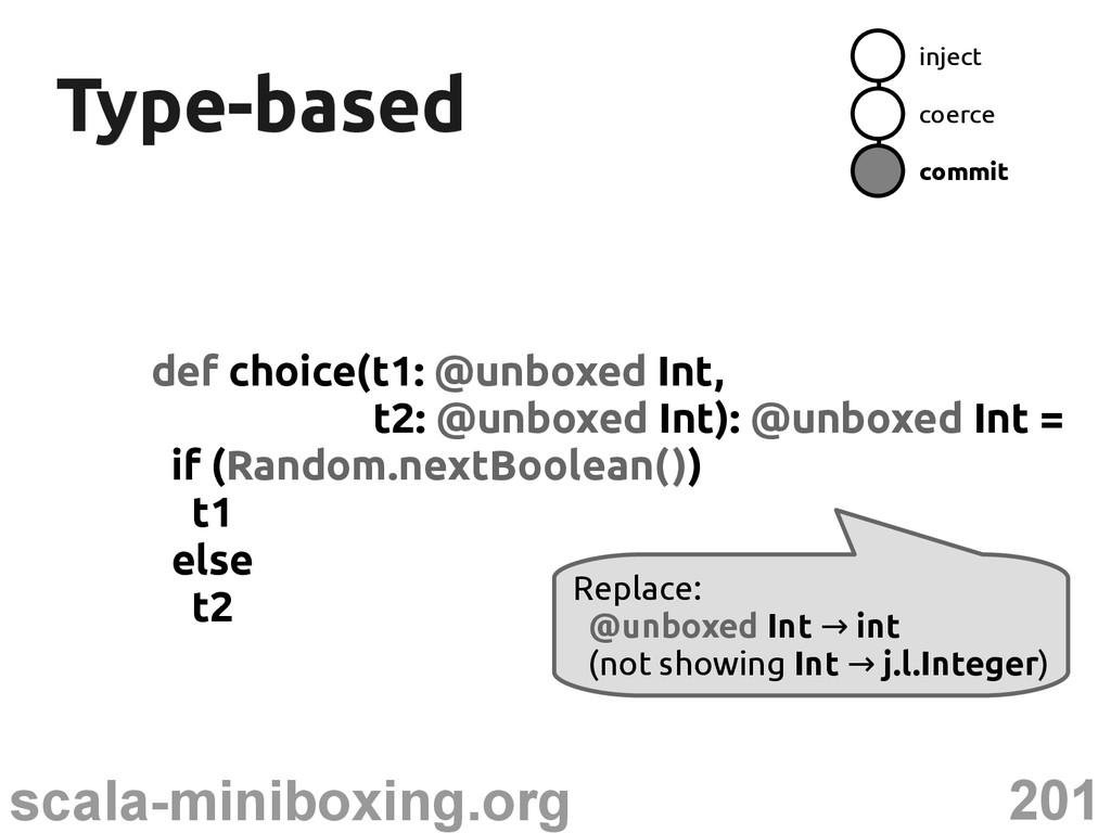 201 scala-miniboxing.org Type-based Type-based ...
