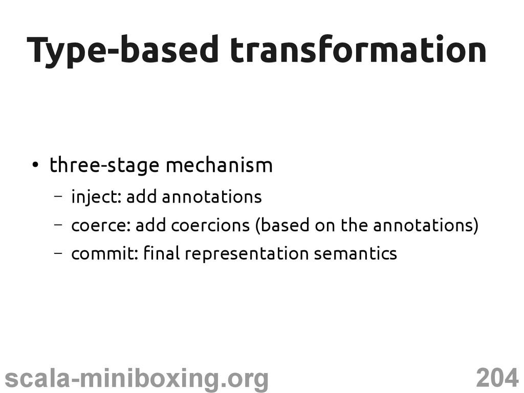 204 scala-miniboxing.org Type-based transformat...