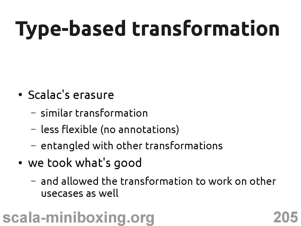 205 scala-miniboxing.org Type-based transformat...