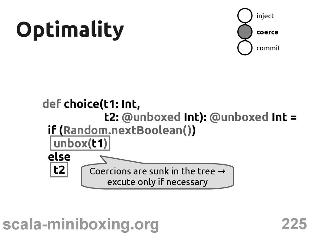 225 scala-miniboxing.org Optimality Optimality ...