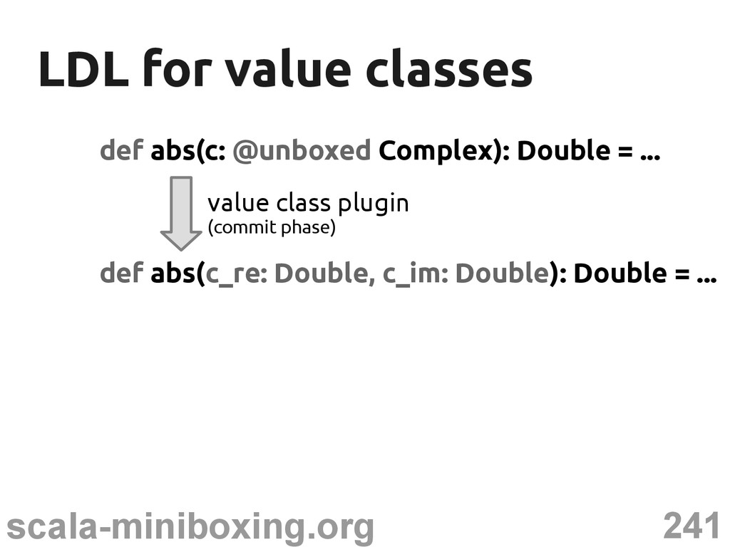 241 scala-miniboxing.org LDL for value classes ...