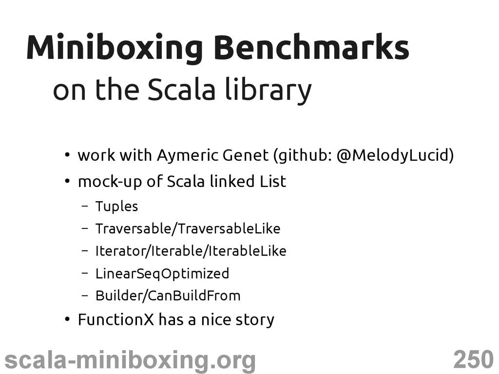 250 scala-miniboxing.org Miniboxing Benchmarks ...