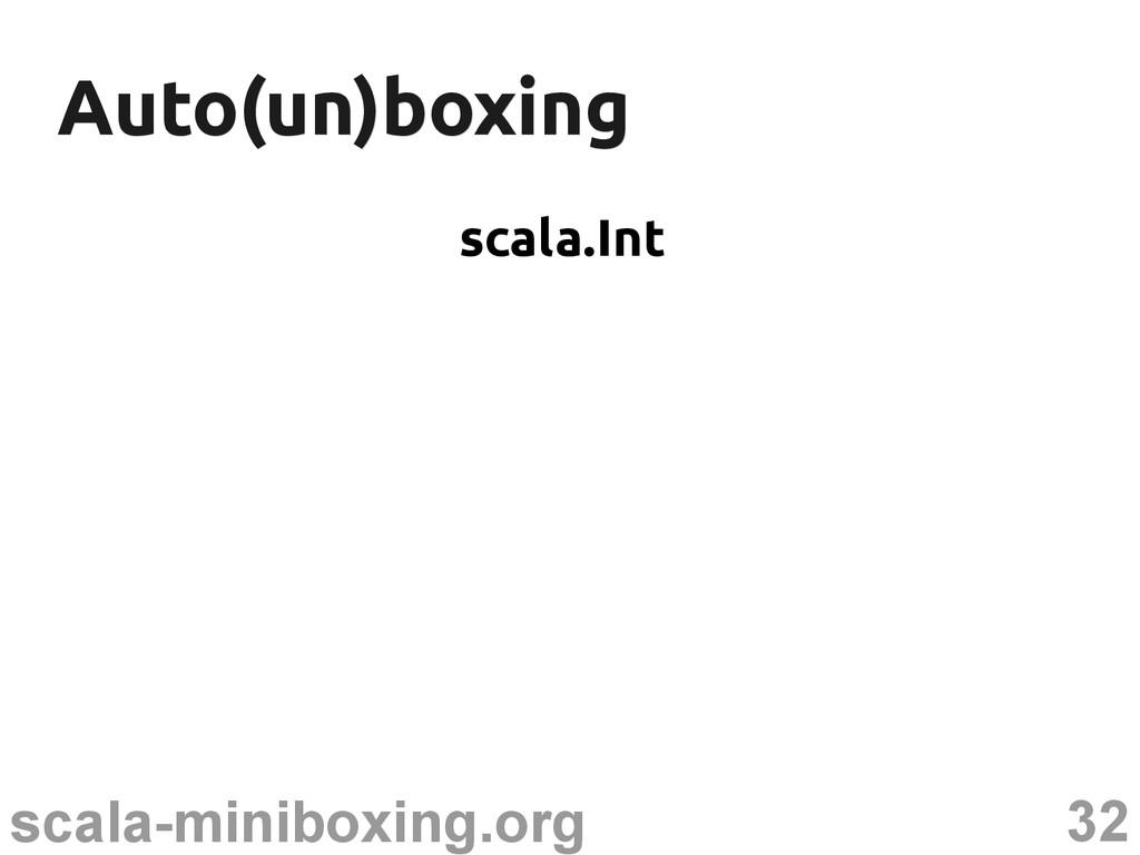 32 scala-miniboxing.org Auto(un)boxing Auto(un)...