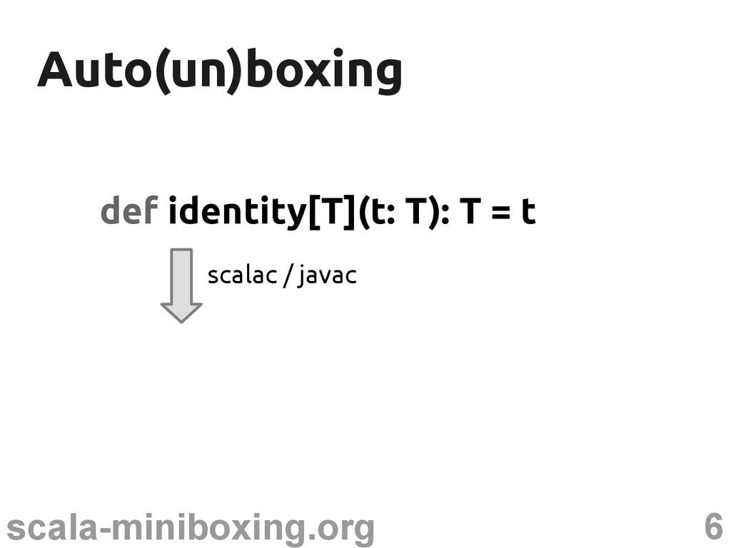 6 scala-miniboxing.org Auto(un)boxing Auto(un)b...