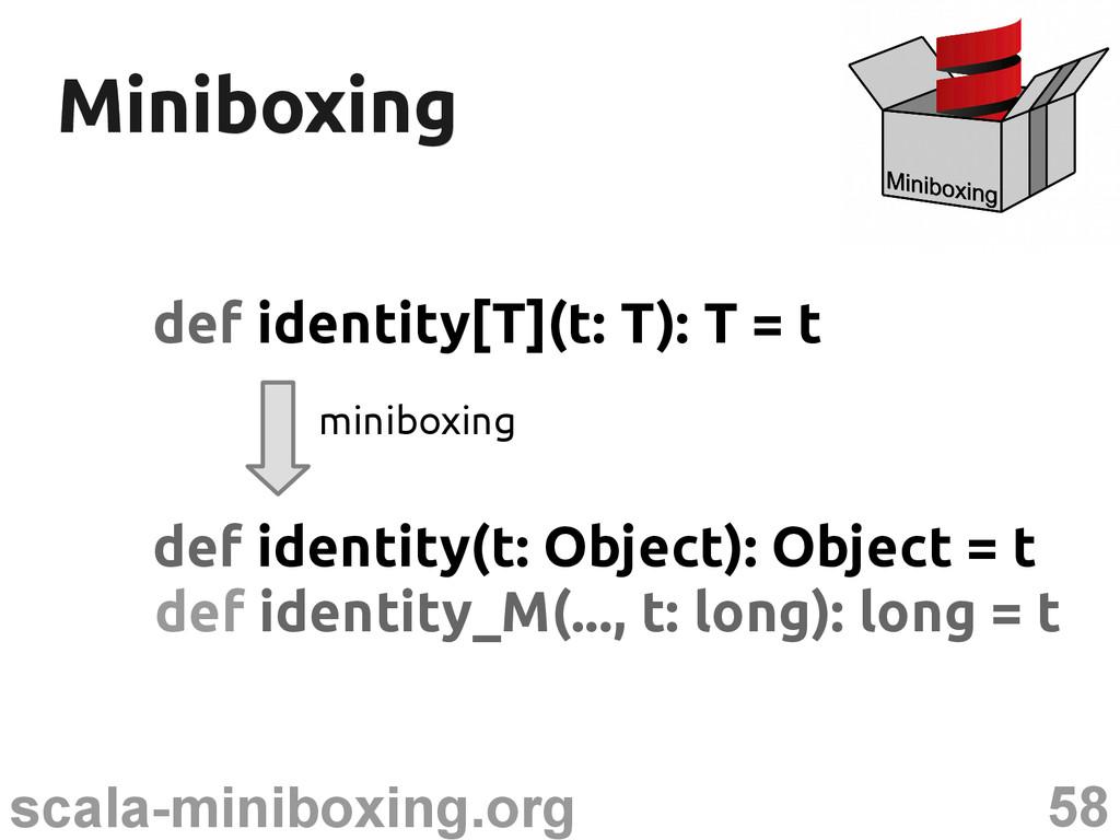 58 scala-miniboxing.org Miniboxing Miniboxing d...
