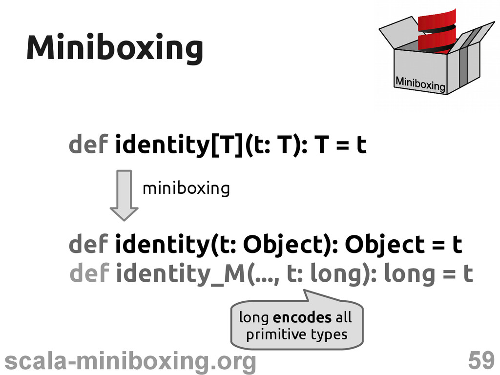 59 scala-miniboxing.org Miniboxing Miniboxing d...