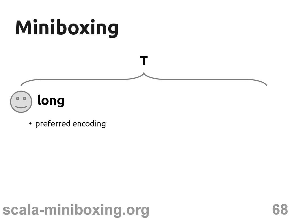 68 scala-miniboxing.org Miniboxing Miniboxing T...