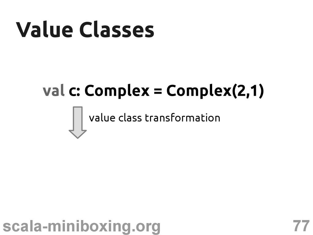77 scala-miniboxing.org Value Classes Value Cla...