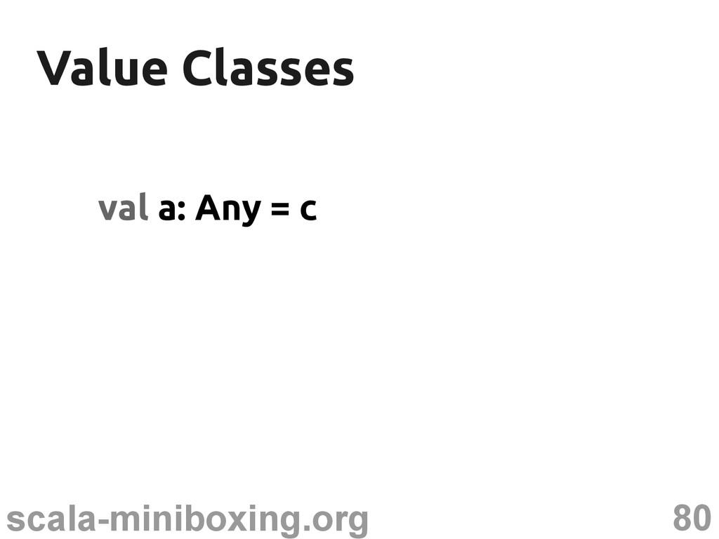 80 scala-miniboxing.org Value Classes Value Cla...
