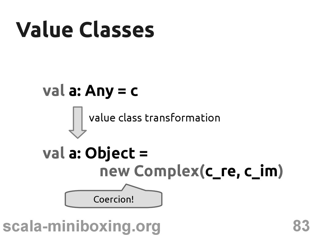 83 scala-miniboxing.org Value Classes Value Cla...