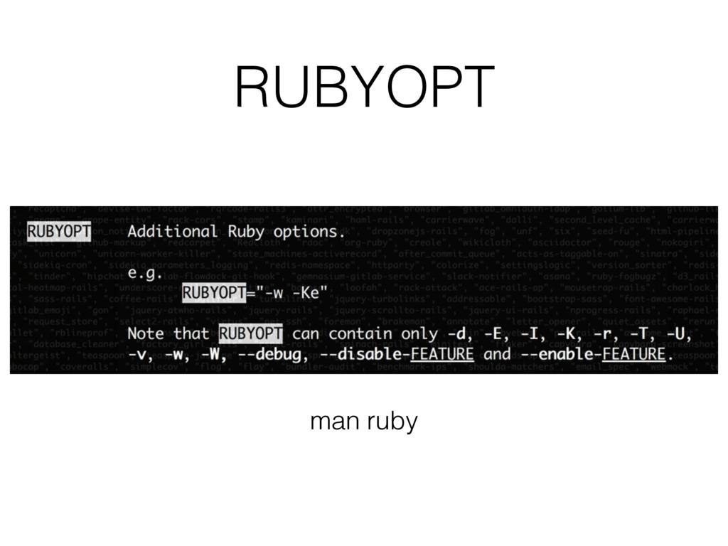 RUBYOPT man ruby
