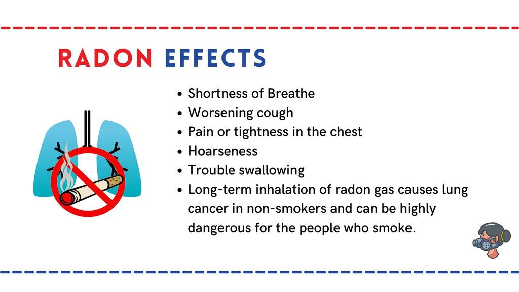 Radon Effects Shortness of Breathe Worsening co...