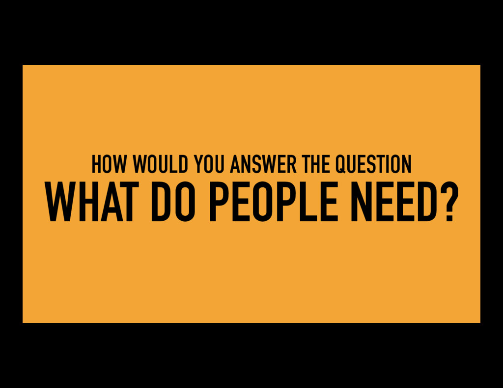 HOW WOULD YOU ANSWER THE QUESTION WHAT DO PEOPL...