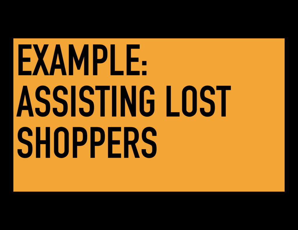EXAMPLE: ASSISTING LOST SHOPPERS
