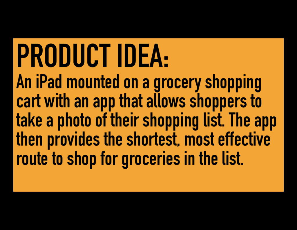 PRODUCT IDEA: An iPad mounted on a grocery shop...