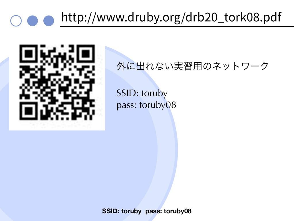 http://www.druby.org/drb20_tork08.pdf ֎ʹग़Εͳ͍࣮श༻...