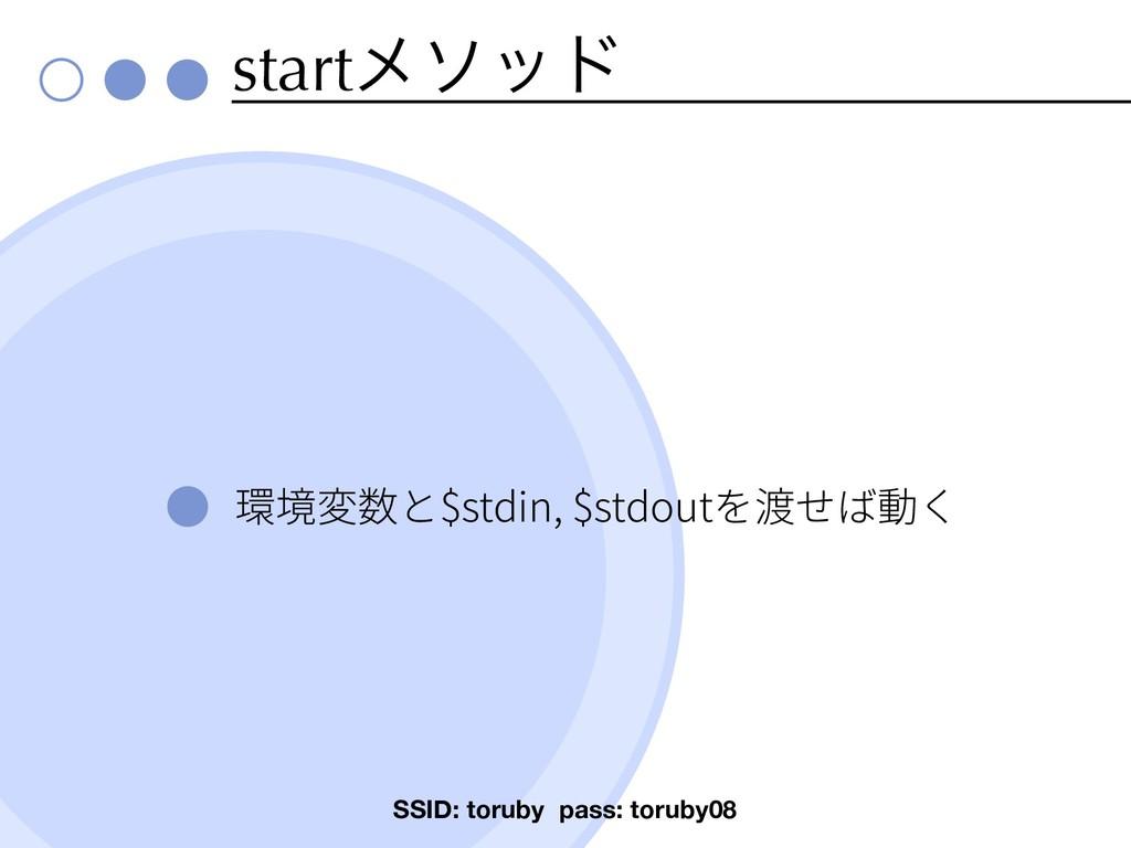 startϝιου $stdin, $stdout SSID: toruby pass: to...