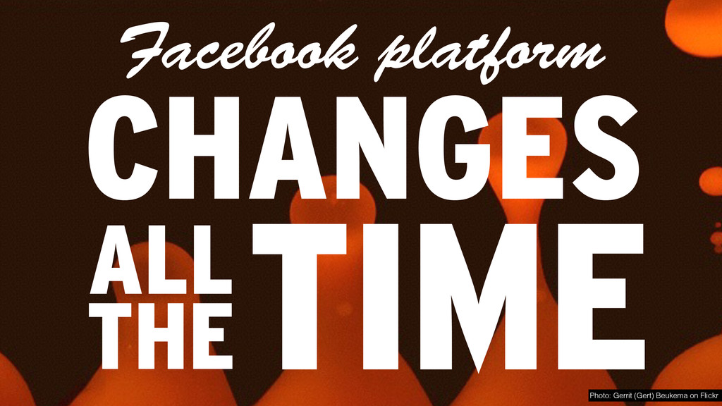 Facebook platform CHANGES TIME Photo: Gerrit (G...