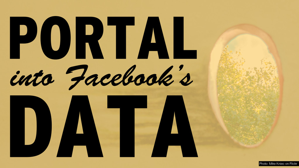 DATA into Facebook's PORTAL Photo: Mike Kniec o...