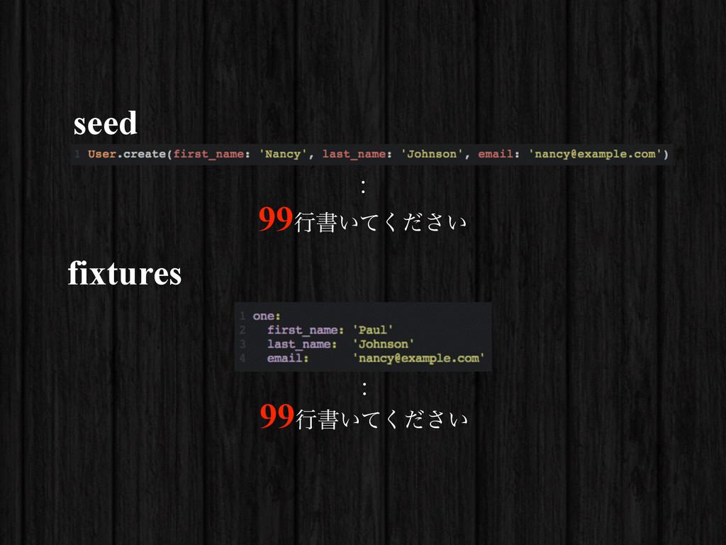 seed : 99ߦॻ͍͍ͯͩ͘͞ fixtures : 99ߦॻ͍͍ͯͩ͘͞