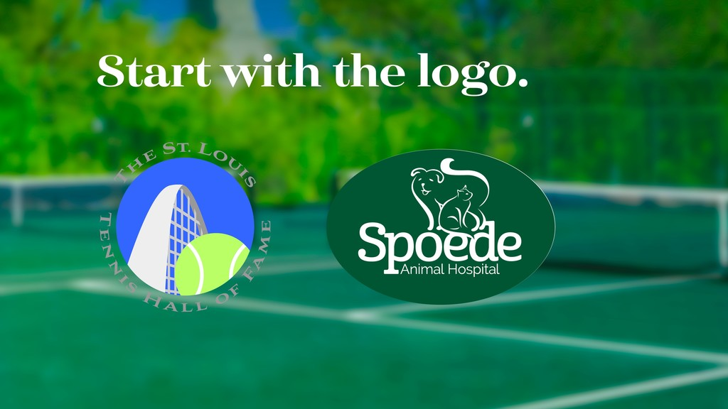 Start with the logo.
