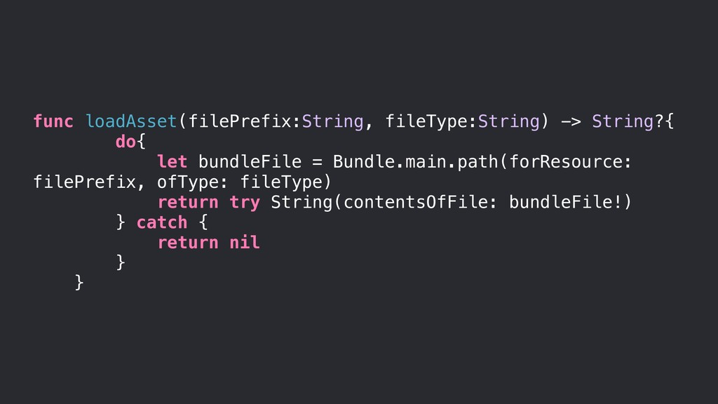 func loadAsset(filePrefix:String, fileType:Stri...