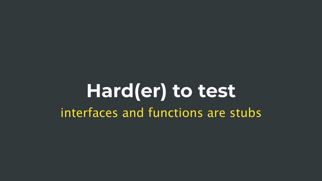 Hard(er) to test interfaces and functions are s...