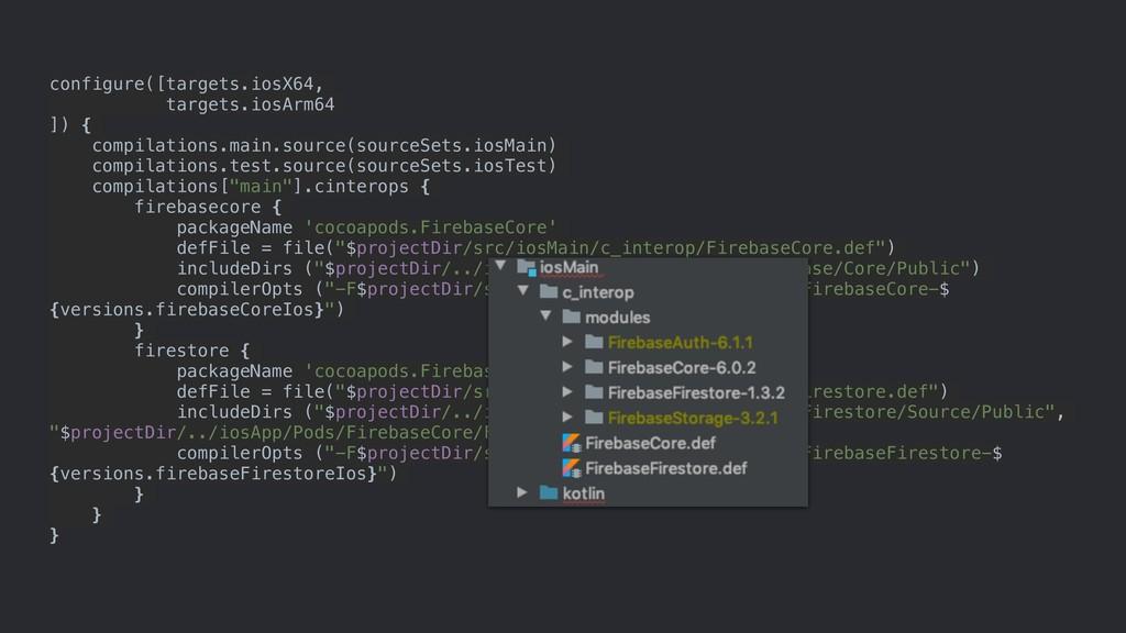 configure([targets.iosX64, targets.iosArm64 ]) ...